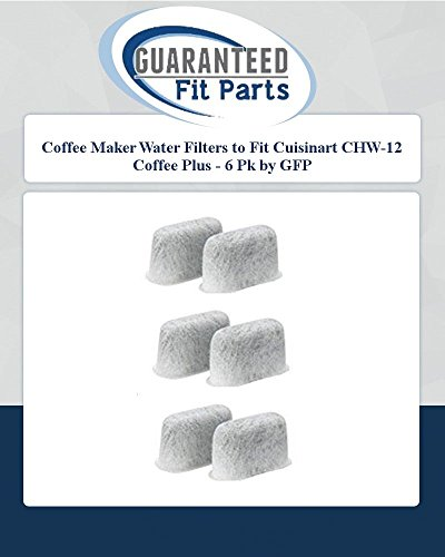 Coffee Maker Water Filters To Fit Cuisinart Chw-12 Coffee Plus - 6 Pk By Gfp