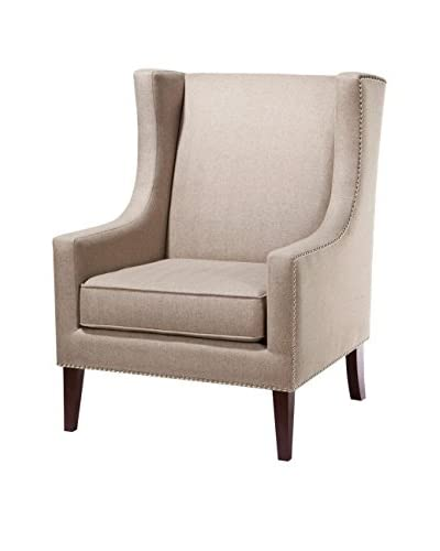Luxury Home Barton Wing Chair, Khaki