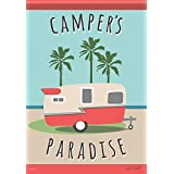 Carson Home Accents FlagTrends Classic Garden Flag, Camper's Paradise