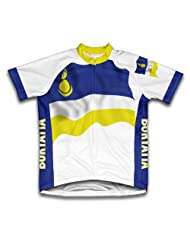Buryatia Flag Short Sleeve Cycling Jersey for Women