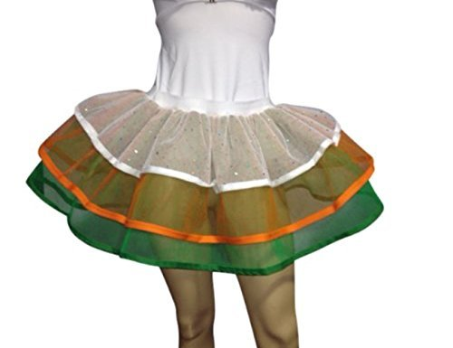 Honey B's® Plus Size (16-20) Neon Tutu Green White Gold Fancy Dress