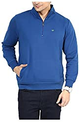 UV&W Men's Fleece Sweatshirt (MFTCK34_XL_Royal Blue, Royal Blue X-Large)