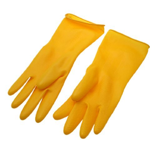 Dimart Yellow Household Long Latex Rubber Gloves Large