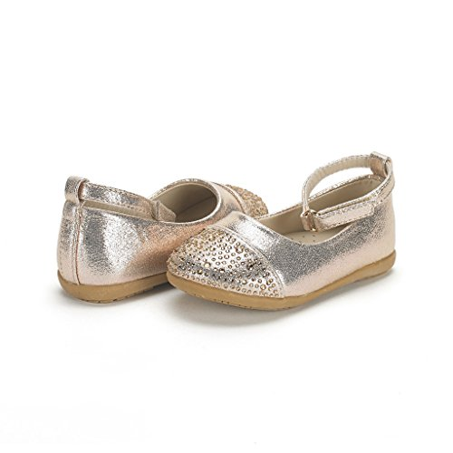04. Dream Pairs NINA-66 Mary Jane Rhinestone Buckle Strap Ballerina Flat (Toddler/ Little Girl) New
