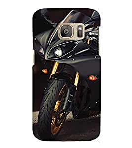 printtech Superfast Bike Back Case Cover for Samsung Galaxy S7 / Samsung Galaxy S7 Duos with dual-SIM card slots