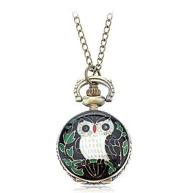 M.M.Women'S Retro Owl Design Alloy Quartz Necklace Watch