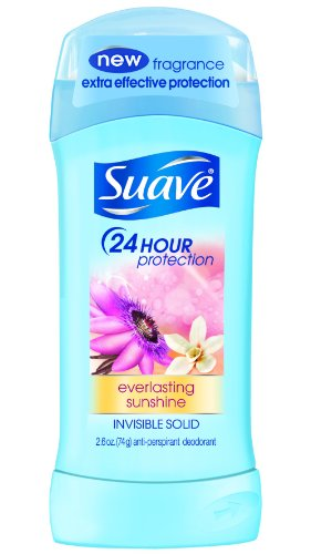 Degree Suave 24 Hr Protection Invisible Solid Antiperspirant and Deodorant, Everlasting Sunshine, 1.4 Ounce (079400214126)