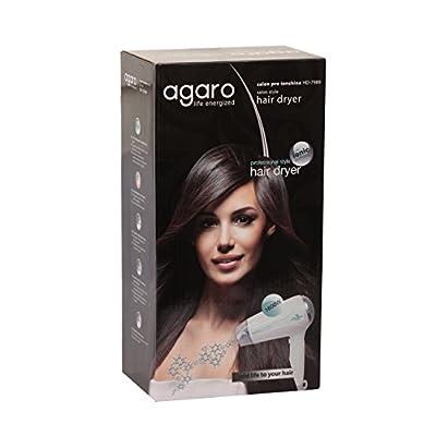 Agaro AG-HD-7989 Saloon Pro Ion Shine Hair Dryer (White)
