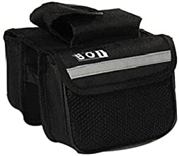 BOI 600D Polyeste Black Waterproof Wearable Cycling Frame Bag with Reflective Stripe