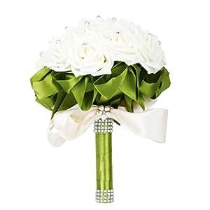 Artificial Wedding Flowers Rose Flowers Ribbon Wedding
