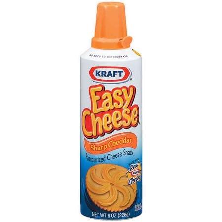 【アメリカ直送】 Kraft Easy Cheese Sharp Cheddar Cheese, 8 oz クラッカーのトッピングに最適 スプレータイプ クラフト イージーチーズ チェダーチーズ 226グラム