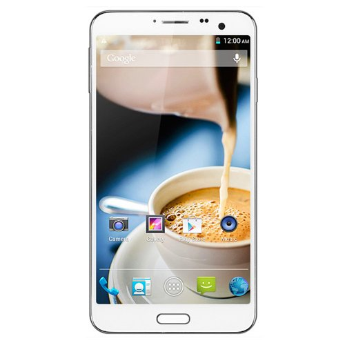 Elephone P8 MTK6592 Octa Core Phone 1.7GHz Android 4.2.2 5.7 Inch IPS FHD Capacitive Screen 3G GPS OTG Air Gesture Smart Mobile Phone (White)