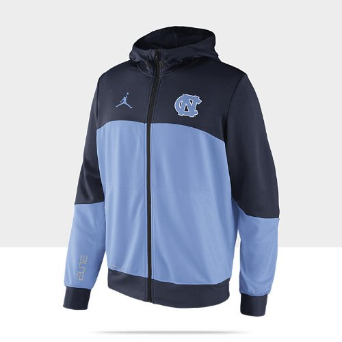 Men'S Nike Elite Hyper Warm Up North Carolina Full Zip Hoodie Navy Size Xx-Large