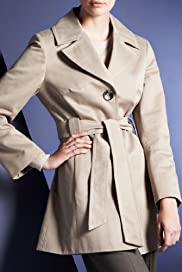 Autograph Pure Cotton Swing Coat with Belt [T50-3604-S]