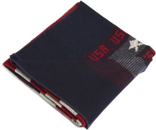 Woolrich Elite Men S Freedom Throw Blanket Red White Blue Mathilde Amazing Mens Throw Blanket