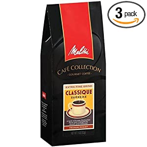 Melitta Cafe Collection Classique Supreme Ground Coffee, Medium Roast, 11-Ounce Bags (Pack of 3) On sale Best Price