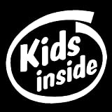 Kids Inside Vinyl Decal Car Truck Window Sticker Children Baby On Board Family, Die cut vinyl decal for windows, cars, trucks, tool boxes, laptops, MacBook - virtually any hard, smooth surface