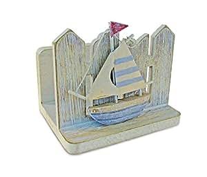 Puzzled vintage napkin holder nautical d cor beach theme unique gift and - Coastal napkin holder ...