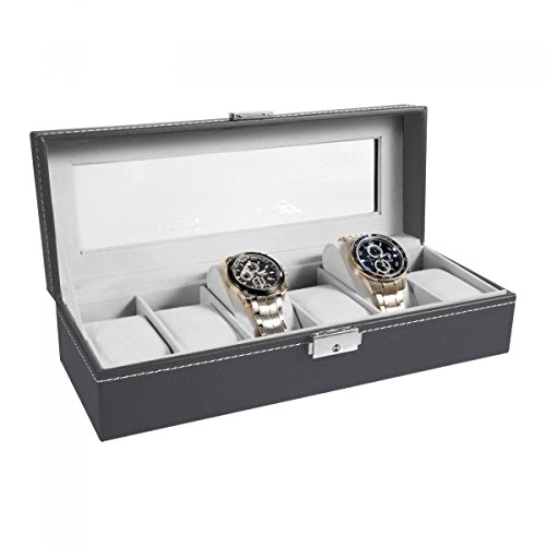 ohuhu-6-grids-watch-box-jewelry-display-organizer-storage-case-with-glass-top-gray-black