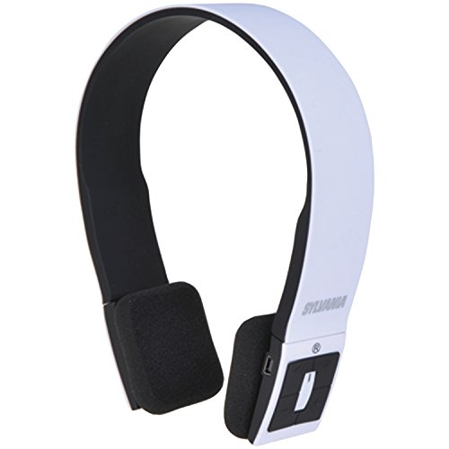Sylvania Sbt214-White Bluetooth Stereo Headphones
