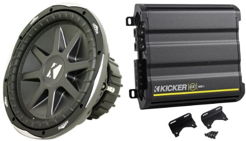 "Package: Kicker 10Cvx12-4 Ohm Round 12"" Subwoofer With 1,500 Watt Peak And 750 Watt Rms + Kicker Cx600.1 1200 Watt Peak/600 Watt Rms Mono Block Amplifier Class D Car Amplifier"