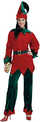 Forum Novelties Unisex Plus-Size Deluxe Helper Santa Elf Costume