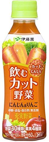伊藤園 飲むカット野菜 充実野菜 にんじん&りんご 265g×24本
