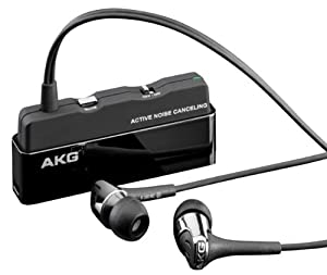 AKG K390NC Noise Cancelling In-Ear Headphones with Inline Microphone (Black) (Discontinued by Manufacturer)