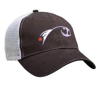 Rising fly fishing trucker baseball cap brown for Fishing baseball caps