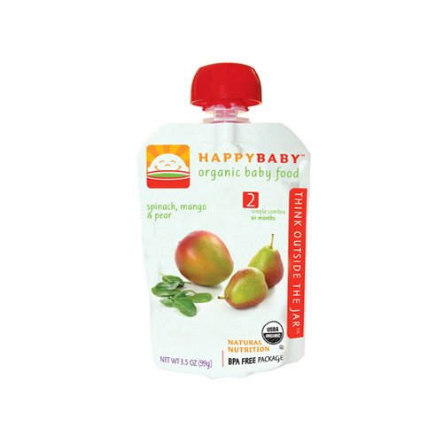 Happy Baby Organic Baby Food Spinach Mango N Pear