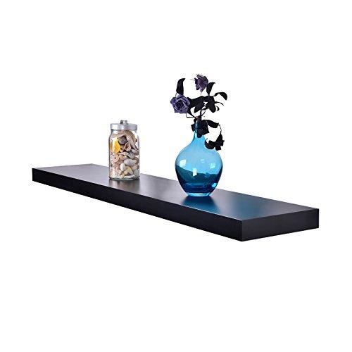 Welland Chicago Floating Shelf, 60-Inch, Black