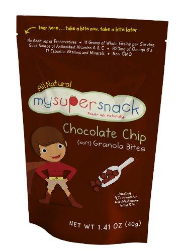 MySuperSnack Soft Granola Bites, Chocolate Chip Soft, 6 – 1.41 Ounce , Box