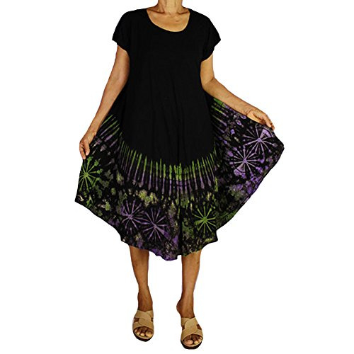Siam2u Women Maxi Gypsy Rayon Boho Hobo Hippie Summer Beach Tie Dye Dress Comfy Dress Brown (TD 21) (Tie Dye Huf Hoodie compare prices)