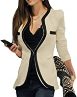 Fashion Temperament Spell Color Long Sleeve Slim Small Blazer GWF-6607