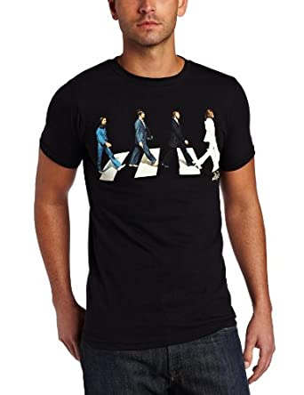 FEA Men's The Beatles Golden Slumbers T-Shirt, Black, Small