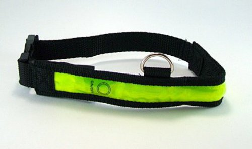 "Se Pet Safety Illuminated 18-25"" Dog Collar Large Glow In The Dark"