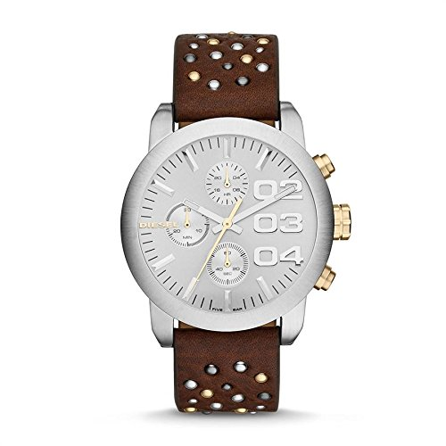 Diesel Watches Flare Leather Watch (Brown)