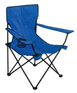 Texsport Bazaar Chair with Arm - Steel Frame - Blue - Camping Chair
