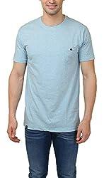 Hash Tagg Men's Cotton T-Shirt HT-3007_Sky Blue_S