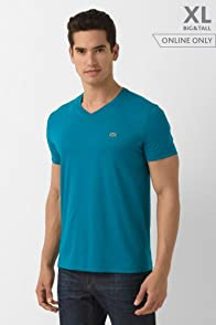 Tall Short Sleeve Pima Jersey V-neck T-shirt