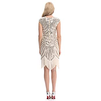 Pilot-trade Women's 1920's Dress Flapper Vintage Great Gatsby Charleston Party Dress