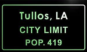 Amazon.com - t83626-g Tullos town, LA City Limit Pop 419 Indoortullos town