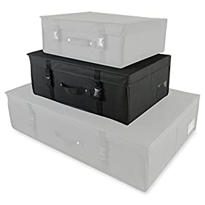 Hangerworld Single Medium Black Wedding Dress Bridal Gown Storage & Travel Box- pH Neutral