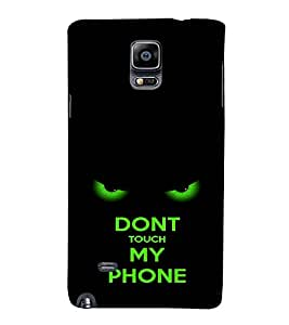 EPICCASE Dont touch my phone Mobile Back Case Cover For Samsung Galaxy Note Edge (Designer Case)