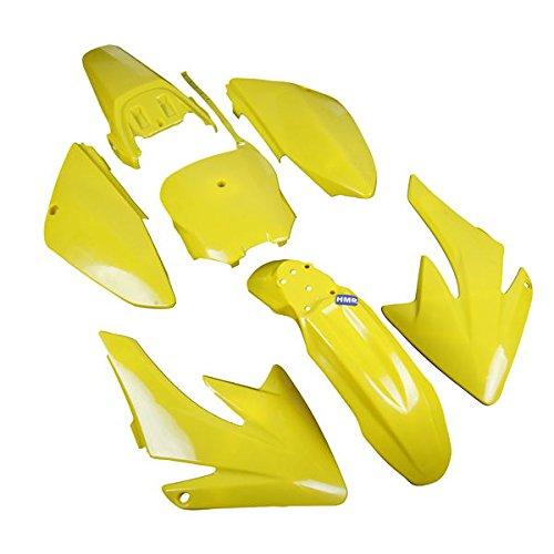 HMParts Verkleidung SET Dirt Bike Pit Bike CRF 70 - Style Typ 6 gelb