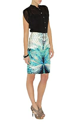 Mirror Print Pencil Skirt