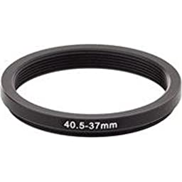 Adorama - 40.5mm to 37mm Step Down Ring Adapter - BLACK