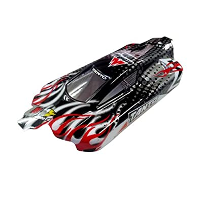 Iron Track Atomik RC Buggy Body - Black for Iron Track Tanto 4WD RC Buggy Vehicle
