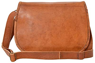 """Gusti Cuir nature """"Holly"""" sac à main en cuir iPadmini 7,9"""" sac bandoulière sac porté épaule et main en cuir sac festival besace en cuir sac en cuir de chèvre tablettes iPad 7,9"""" vintage marron K68b"""