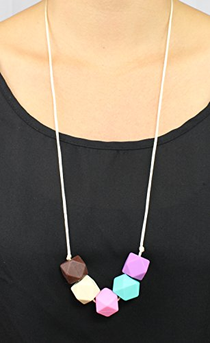 Silicone baby teething necklace for mom to wear bpa free for When can babies wear jewelry